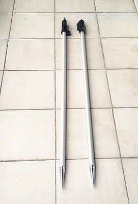 """NEW 2PCS 2.15m ( 7 ft ) Prism pole for total stations Surveying  5/8""""x11 thread"""