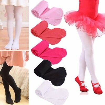 2016 Girls Kids Tights Stockings Leg Pantyhose Hosiery Opaque Ballet Dance S M L
