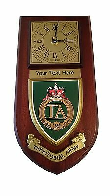 Territorial Army TA Personalised Military Wall Clock Plaque UK Made for MOD