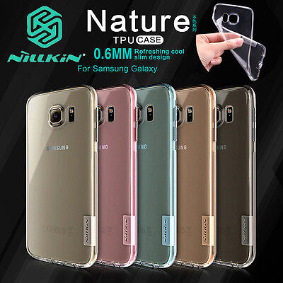 NILLKIN 0.6mm Nature Ultra-thin Silicone Soft TPU Case Cover For Samsung Galaxy