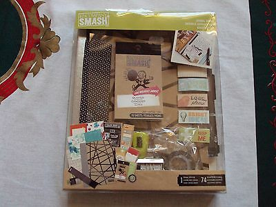New K&Co Smash Book Journal Bundle/Kit Couture w/Pen & 74 Assorted Accessories