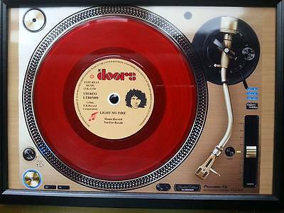 The Doors 7'' Red Single Promo copy playing on a turntable Memorabilia Frame,New