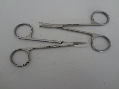 "MICRO IRIS SCISSORS 4.5"" Curved + Straight German Stainless Steel CE Surgical"