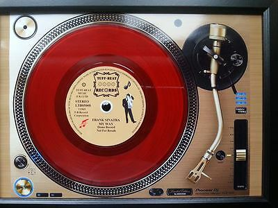 FRANK SINATRA 7'' Single Promo copy playing on a turntable Memorabilia Frame,New