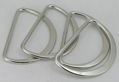 4 D-rings round-flat Colour silver 55mm (67x39mm) 04.67s