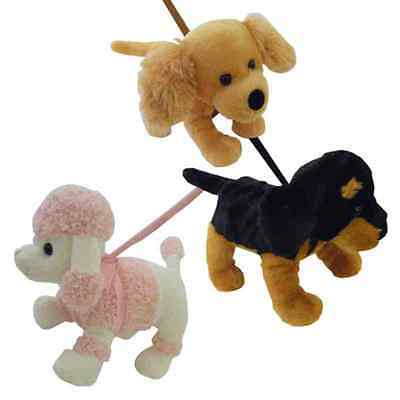 Black and Tan Dog Puppy On A Lead Soft Toy