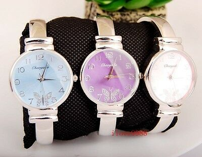 Elegant 5 pcs Woman Girl Lady Butterfly dail casual Steel Bangle Watch USW41