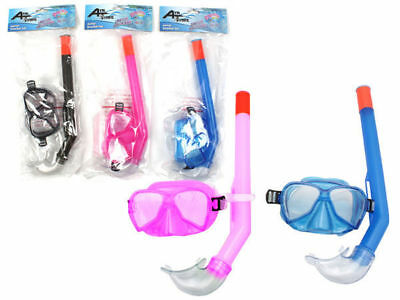 kids Snorkel and mask dive set in choose from blue pink  yellow