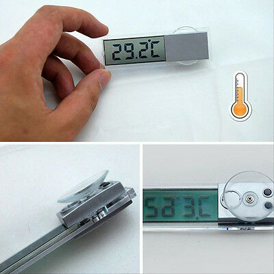 LCD Digital Temperature Sensor Indoor Outdoor Home Suction Cup Car Thermometer P