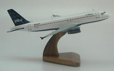 A-320 Airbus Jetblue Airways A320 Desk Airplane Wood Model Big New