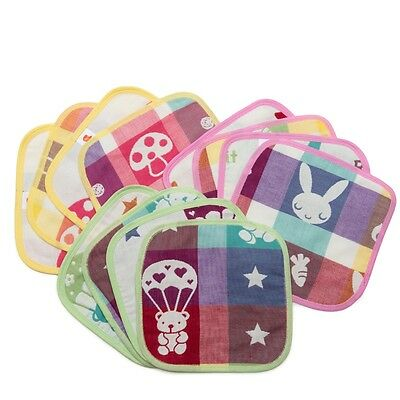 Wholesale 120 KaWaii Baby Muslin Cotton Baby Wipes Assorted Prints
