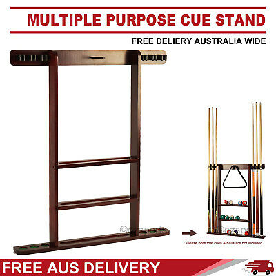 Hole Cue Stand Rack For Ball Triangle Pool Billiard Snooker Free Post