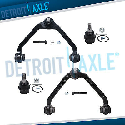 Both (2) New Front Upper Control Arm & Ball Joints + Both (2) Lower Ball Joints