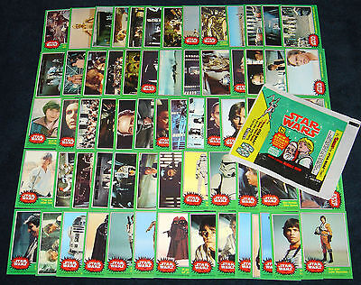 Star Wars Topps Series 4 Green 1977 Vintage Card Set NM/MINT +Wax Wrapper w/ 207