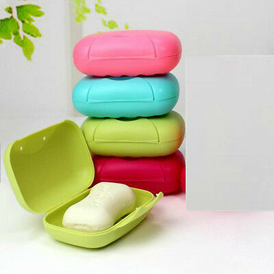 Travel Hiking Portable Bathroom Shower Soap Box Dish Plate Holder Case Container