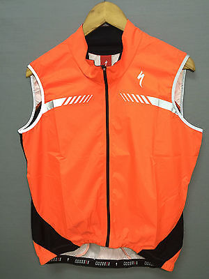 "Cycling Vest ""deflect H2O Uv Wind"" By Specialized Orange New"
