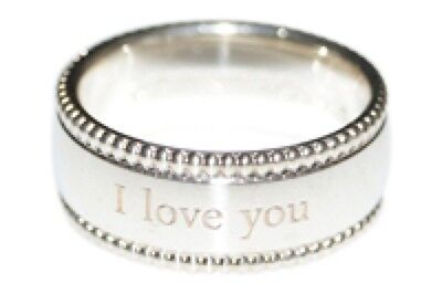 Sterling Silver I LOVE YOU 6mm Band Ring Comes Gift Boxed Sizes G-Z