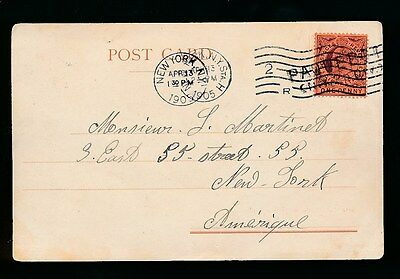 GIBRALTAR 1905 PAQUEBOT on KE7 1d NEW YORK MACHINE + CDS PMK...PONTA DELGADA PPC
