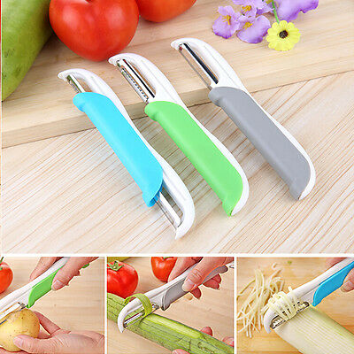 Useful Double Side Kitchen Vegetable Fruit Slicer Cutter Stainless Steel Peeler