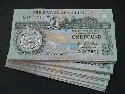 Guernsey £1 Note Mint Uncirculated Condition Ideal 1st Wedding Anniversary Gift