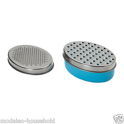 IKEA CHOSIGT Stainless Steel Blue Grater with Container for Storing Cheese pup1