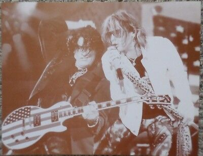 Steven Tyler and Joe Perry from Aerosmith on stage Sepia Poster