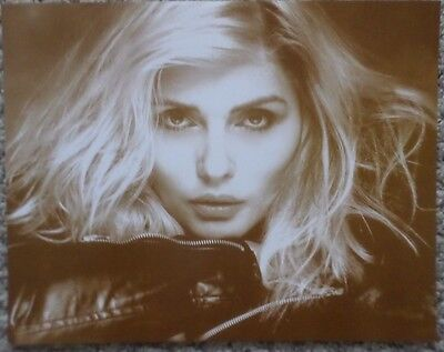 Debbie Harry from Blondie Up-Close Facial Sepia Poster