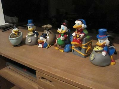Extremely Rare! Walt Disney Uncle Scrooge Piggy Banks Collection Statues