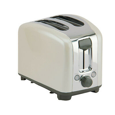 Circulon Traditional 2 Slice Toaster Almond Carbon Steel NEW