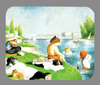 Item#2789 Cats at the Shore Art Mouse Pad