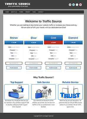 Premium Website Traffic Reseller Business For Sale With Free Installation