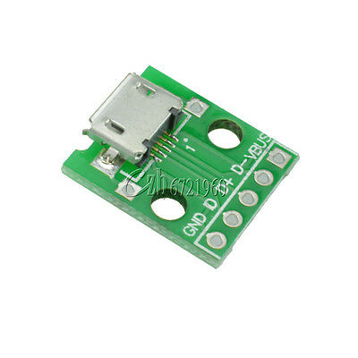 5pcs MICRO Female USB to DIP Adapter Converter for 2.54mm PCB Board DIY Power