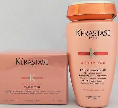 Set KERASTASE Fluidealiste No-Sulfates Shampoo + Masque Duo for Unruly Hair