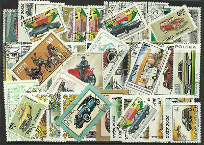 CARS Collection Packet of 100 Different WORLD CARS TRANSPORT Stamps