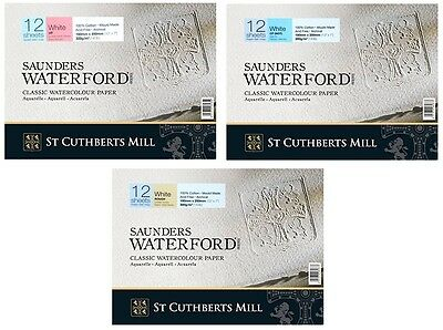 "Saunders Waterford Watercolour Paper Block 300gsm 180 x 250mm (7""x10"") 12 Sheets"