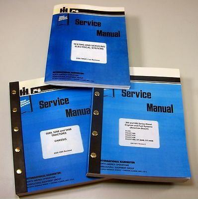 Set International 5088 5288 5488 Tractor Service Manuals Technical Repair Shop