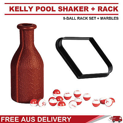 Pool Table 9 Ball Rack +  Kelly Pool Shaker Set Free Delivery