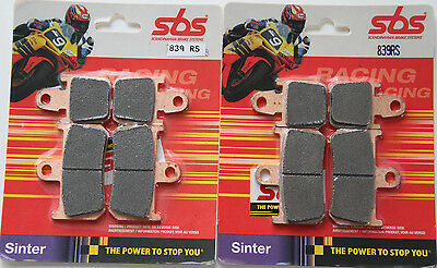 SBS 839 RS 2 Satz Bremsbeläge Sinter Yamaha R1 vorn two set racing brake pads