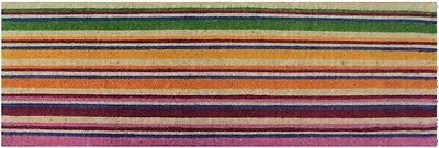 LONG Horizontal Stripes Colourful Design Stunning 100% Coir Doormat / Door Mat