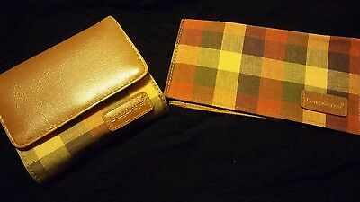 000 New Longaberger Homestead Plaid wallet and checkbook cover
