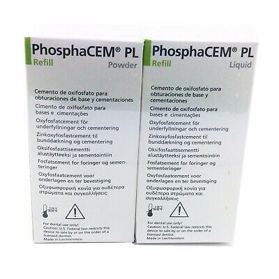 Ivoclar PhosphaCEM Dental Zinc Phosphate Cement HUGE Combo pack 90g+30ml