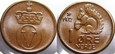 Norway 1972 1 Ore Ucirculated (KM403)
