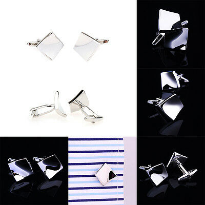 Fashion Men Luxury Jewelry Cufflinks Stainless Steel Cylinder Gift Party Shirt