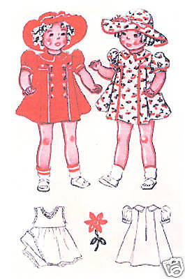 "Vintage Sample Doll Pattern - Size 18"" - Year 1937"