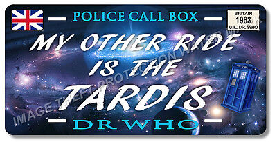 doctor who my other ride is the tardis car auto vanity license plate tag gift - Doctor Who License Plate Frame