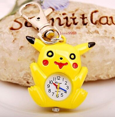 Wholesale 10 pcs Lovely Yellow bird style Key Ring Pocket Watches gifts USK38