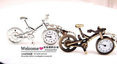 Wholesale 10 pcs Cute bicycle style Key Ring Pocket Watches 2 colors USF73