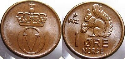 Norway 1971 1 Ore Ucirculated (KM403)