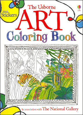 Usborne Art Coloring Book with Stickers by Sarah Courtauld and Rosie Dickens NEW