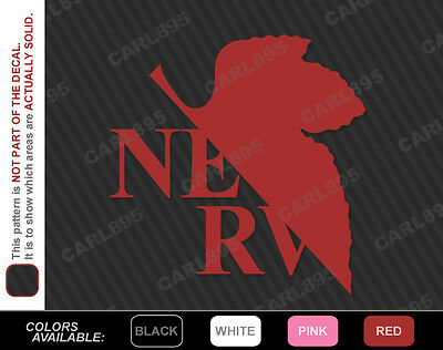 Neon Genesis Evangelion NERV Car Truck SUV Vinyl Window Decal Sticker